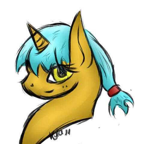 Fan art of Scribe, off the Bronies United group on Facebook.