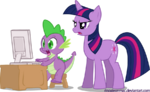 Spike and twilight sparkle by rinoaleonmac-d3riafw-1-