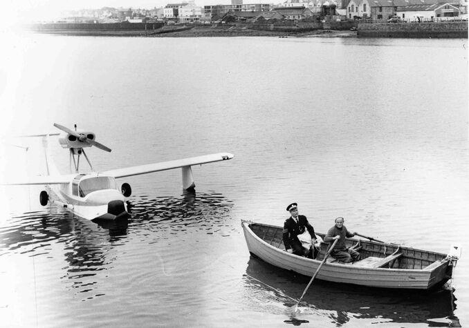 Rowing from plane stranraer