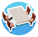 Cafe-Table-&-Chairs-Icon