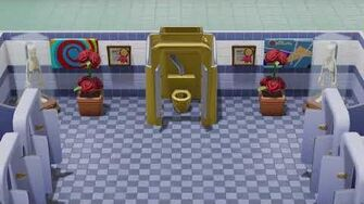 Golden Toilet Two Point Hospital
