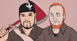Matt and Pat Triangle Girl Cartoon