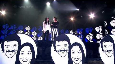 Olga Borys i Radek Pazura jako Cher i Sonny - Twoja Twarz Brzmi Znajomo