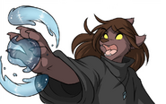 Natani casting a water spell