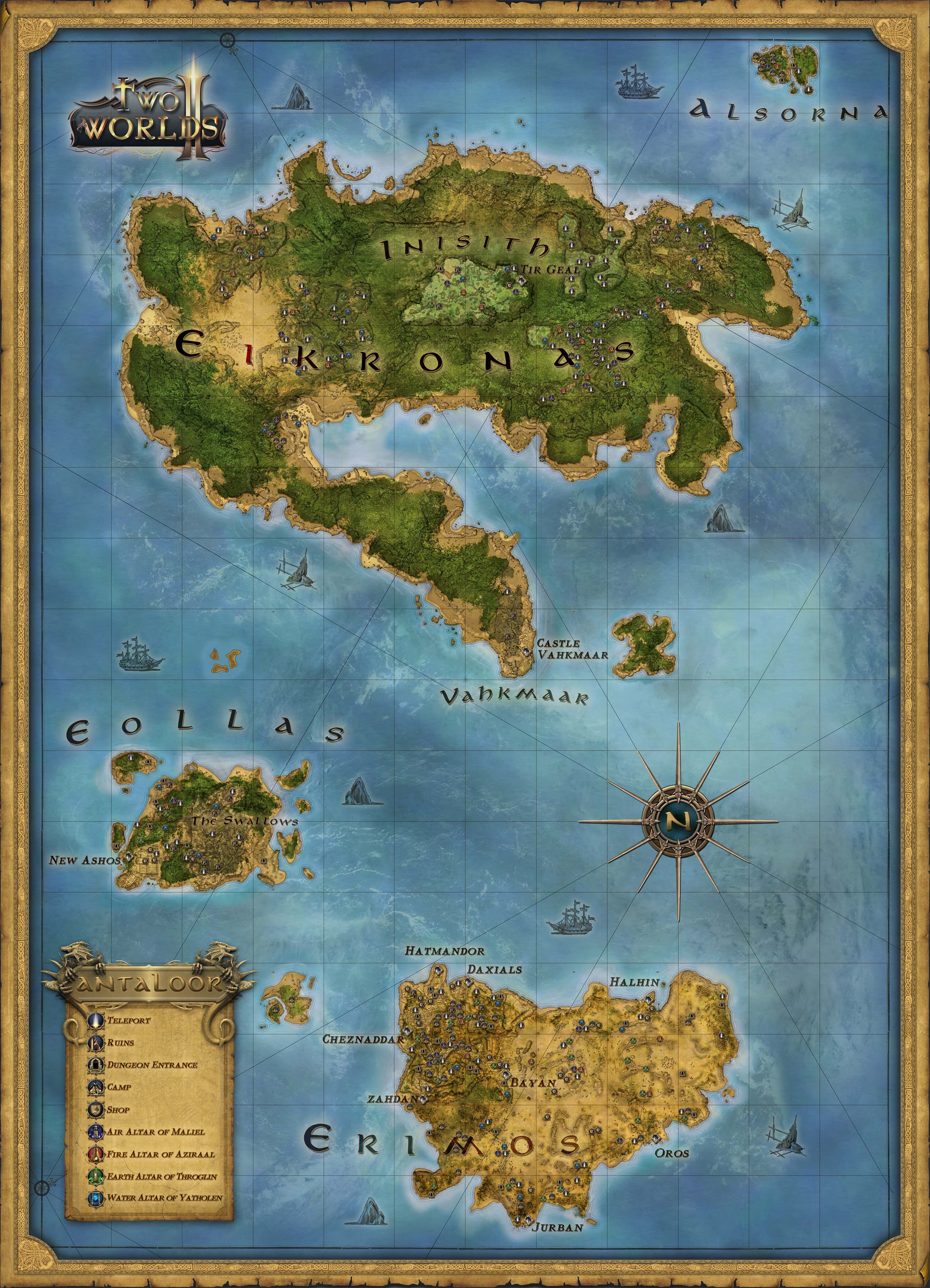 Two Worlds II Map Two Worlds Wiki FANDOM Powered By Wikia - Worlds map