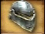 Helm Silver Plate Helmet with Eye Slits