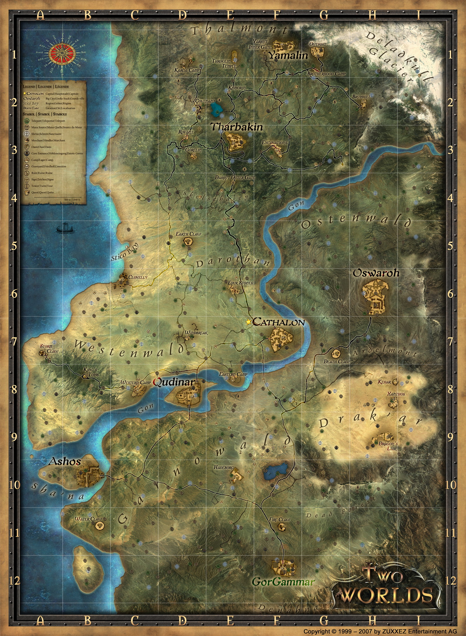 Image Map Fulljpg Two Worlds Wiki FANDOM Powered By Wikia - Worlds map