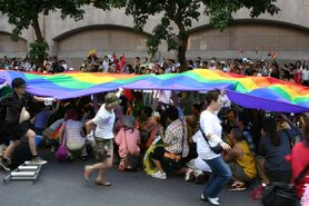 Taiwan Pride 2005 before setout