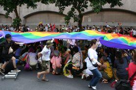 Taiwan Pride 2005 before setout