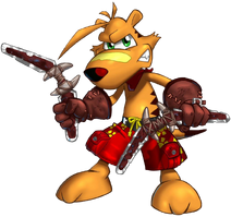 Ty the tasmanian tiger 2 bush rescue ty stance by paperbandicoot-dbewx4s