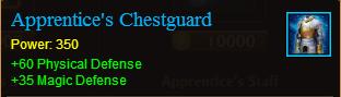 Armor apprentices chestgaurd