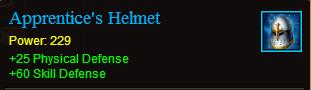 Armor apprentices helmet