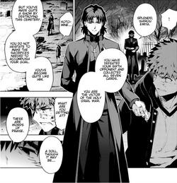 Kirei vient féliciter Shirou