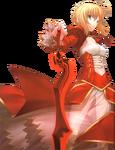 Red saber sword