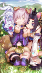 Dumplings Over Flowers
