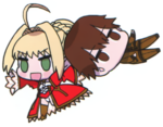 Saber draging hakuno away