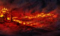 Hideout burning