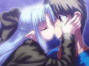 Len kisses Shiki
