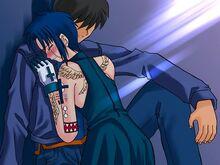 Ciel tombe dans les bras de Shiki
