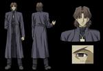 Hoja de personaje de Kirei Kotomine Studio Deen