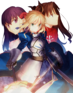 Portada de Fate stay night Réalta Nua The Best Edition en PS2