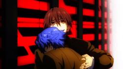 Shinji poignarde Hakuno