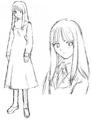 Asagami Fujino early sketch.png