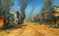 Besieged town
