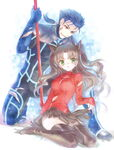 Rin and Lancer illustrion art