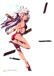 Takashi Takeuchi's swimsuit illustration of Chloe von Einzbern