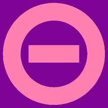 Pink logo purple bkgd