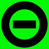 Black logo green bkgd