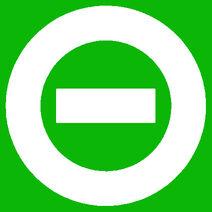 White logo green bkgd