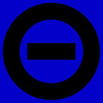 Black logo blue bkgd