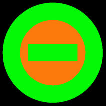 Logo orange center