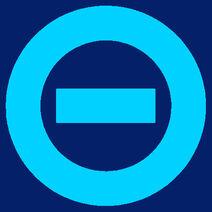 Aqua logo dark blue bkgd