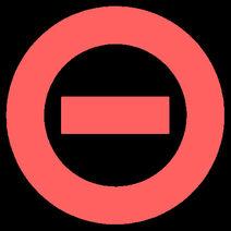Pale red logo