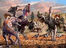 Gigantoraptor vs. Alectrosaurus