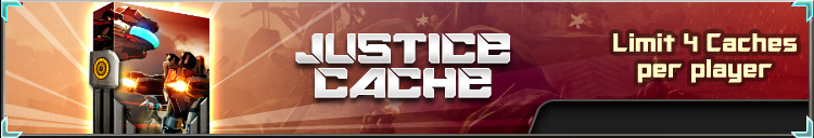 Justice cache banner
