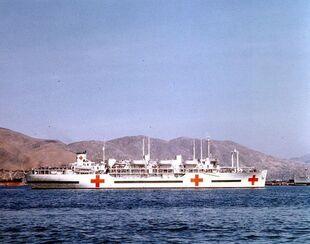 USS Consolation (AH-15) Inchon 1952-1-