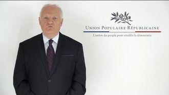 François Asselineau présente l'UPR (Union Populaire Républicaine)