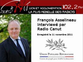 Interview de François Asselineau par Yvan Linossier, animateur sur Radio Canut