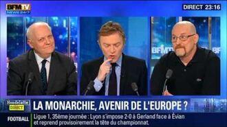 """François Asselineau vs Eric Rossand - """"Hondelatte Direct"""" - « LA MONARCHIE AVENIR de L'EUROPE ? »"""