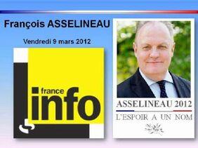 François ASSELINEAU sur France Info (Union Populaire Républicaine) - 9 mars 2012