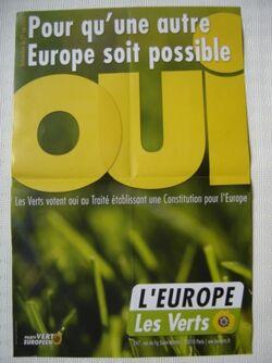 Verts affiche europe 2005