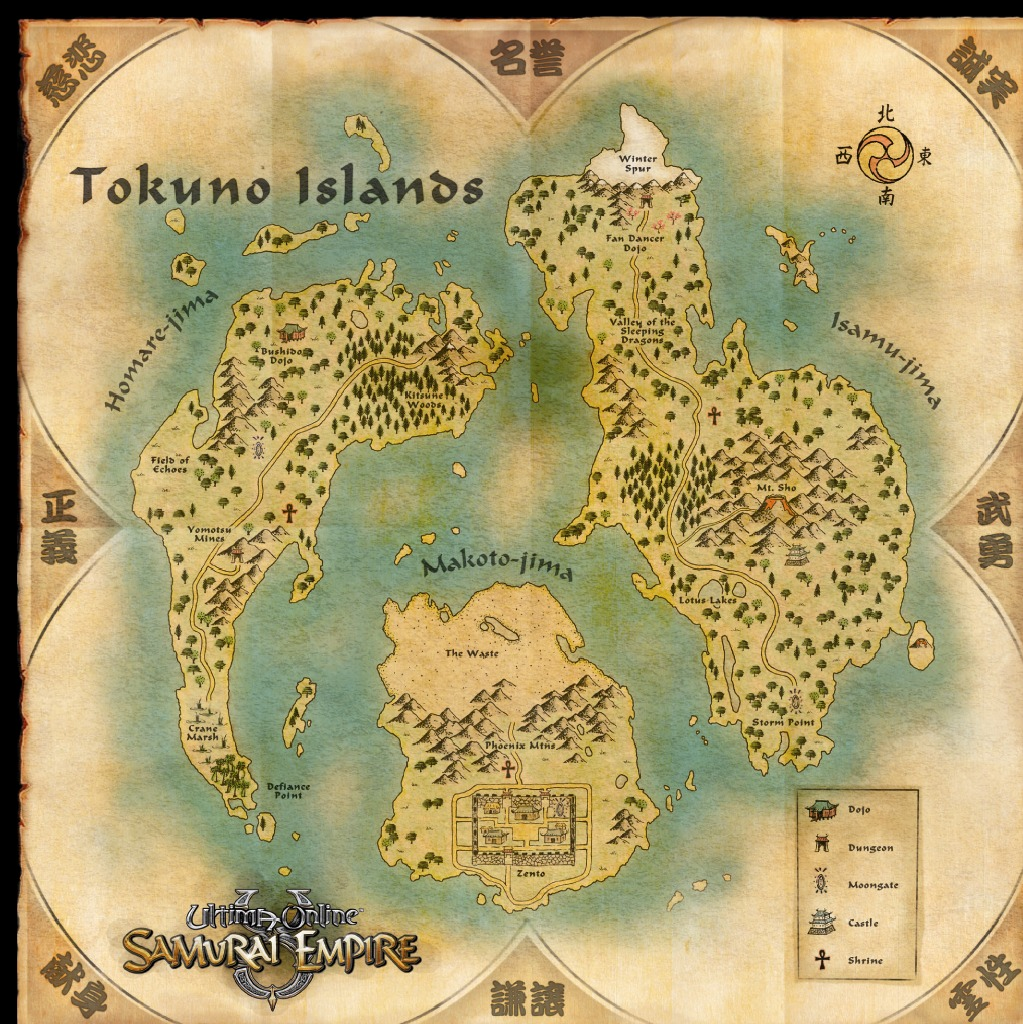 Ultima Online Map of the Tokuno Islands | Editable Codex | FANDOM