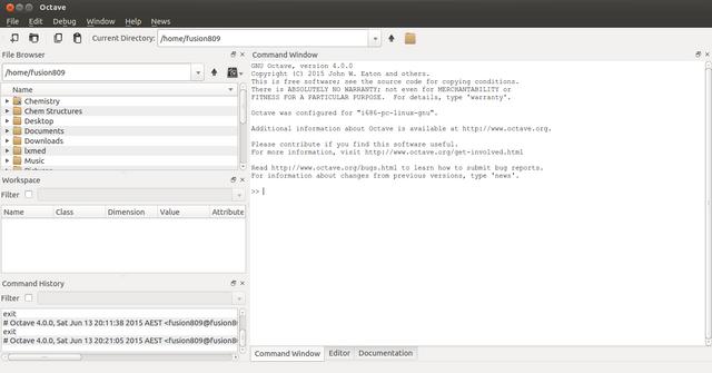 File:GNU Octave 4.0.0 operating on Ubuntu 15.04 in GNOME Desktop environment screenshot.png