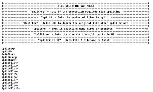 FileSplitting