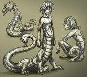 Kabuto snake form