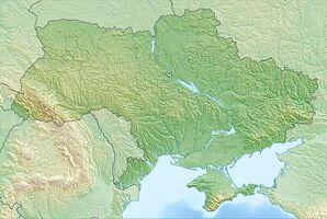 Ukraine relief location map